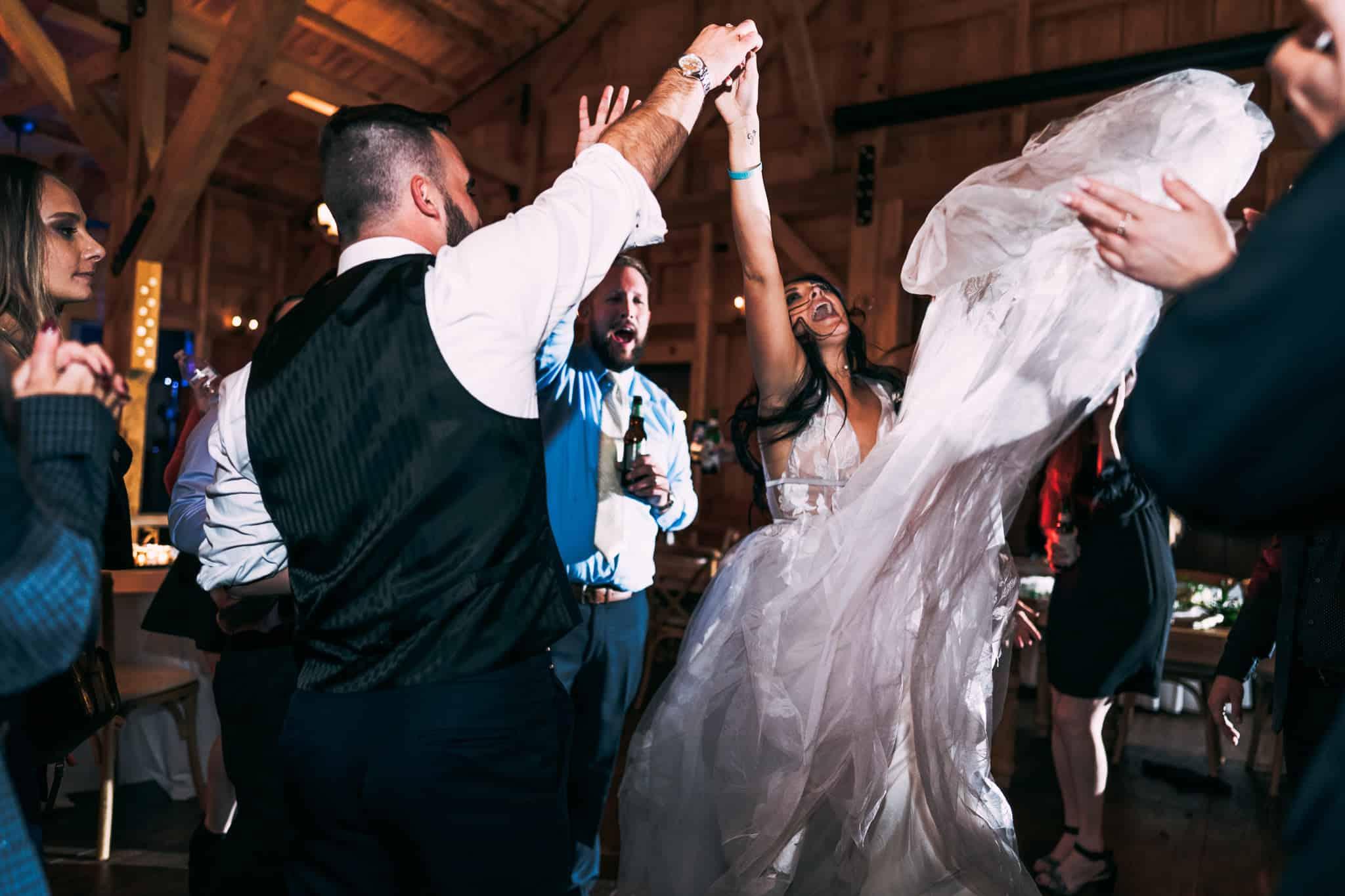 San Francisco wedding photographer bride dancing